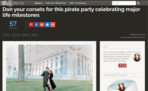 Offbeat Bride Pirate Party